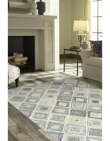 Sterling Gray Handmade Modern Carpet