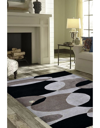 Faded Bulbs Modern Area Rug