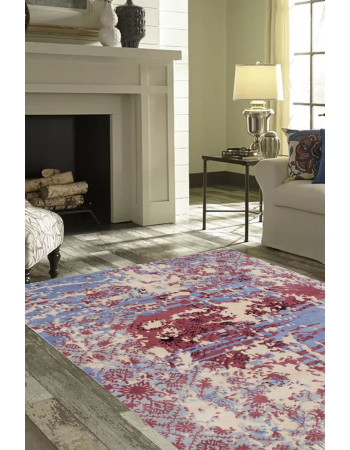 Erased Transitional Modern Handmade Carpet