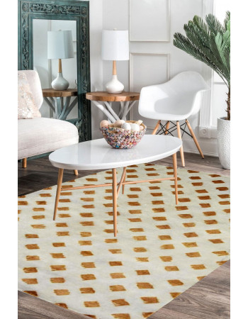 Dessert Cookie Hand-Knotted Area Rug
