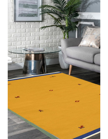 Yellow Magic Woolen Dhurrie