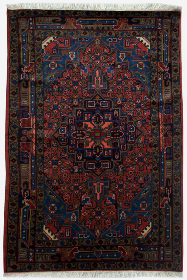 Turkish Blue Afghan Kilim Rug