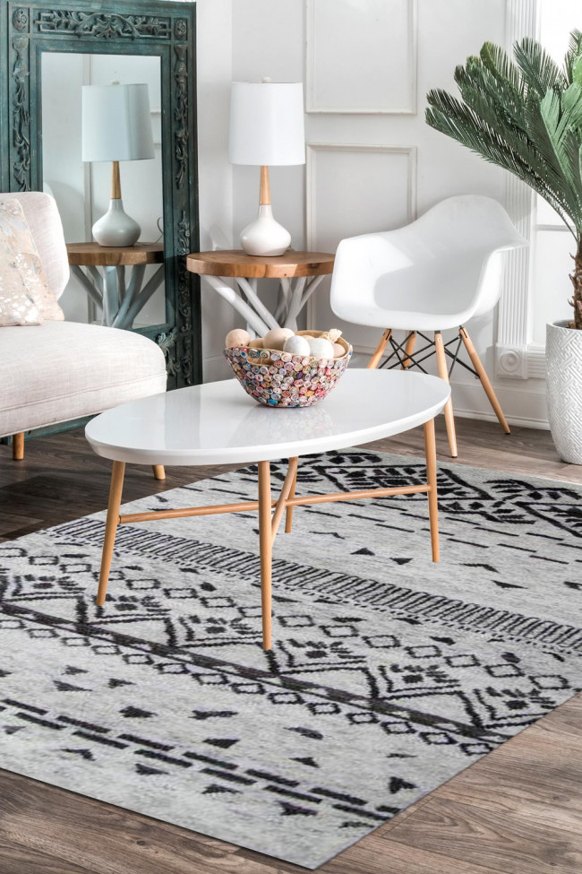 Moroccan Summer Handknotted Wool Carpet