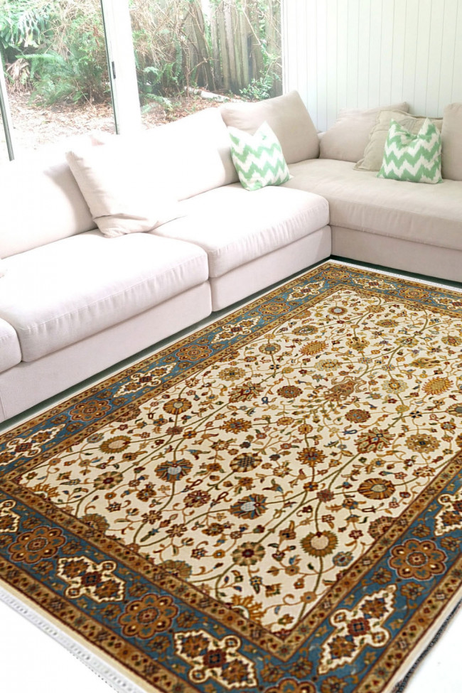 Wool Turkish Handknotted Area Rug