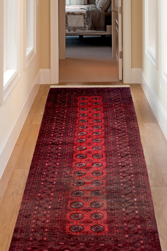 Yomud Bokhara Handknotted Afghani Runner