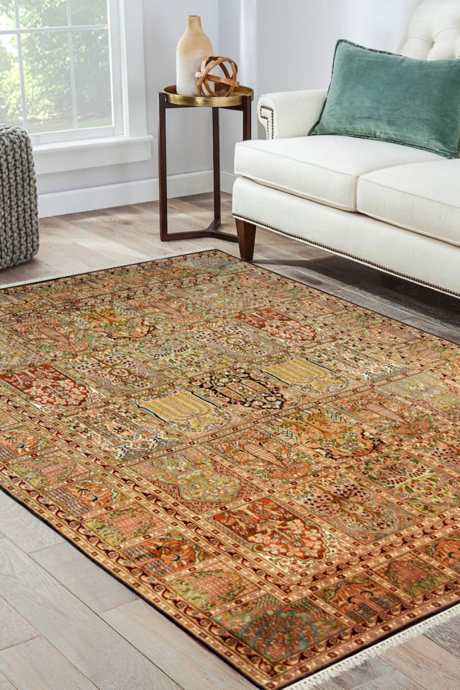Jewel Box Hamadan Handknotted Area Rug