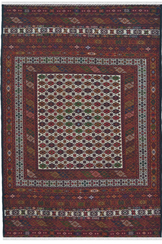 Caucasian Kilim Multi Color Area Rug