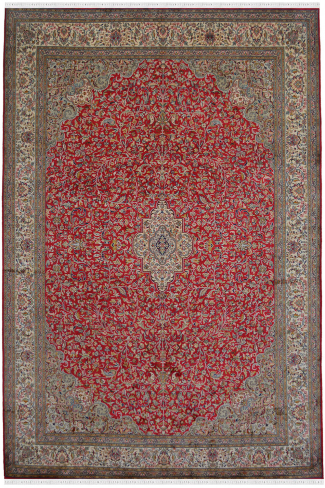 Kashan Floral Pure Silk Carpet