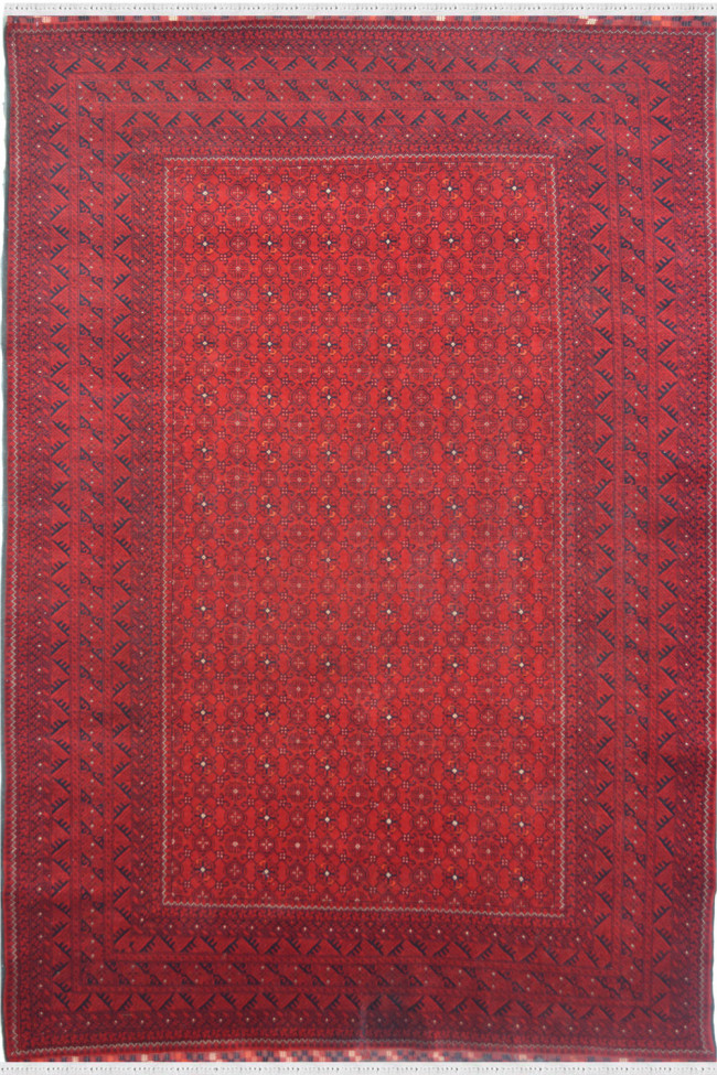 Rouge Red Afghani Area Rug