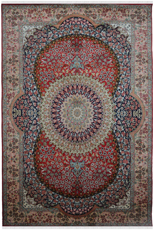 Nain Ardabil Kashmir Silk Carpet