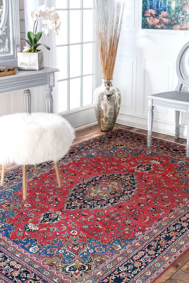 Eye Catchy Kashmir Kashan Kali Wool Area Rugs For Sale At Best Price