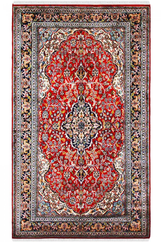 Rouge Fleur Kashan Pure Silk Carpet