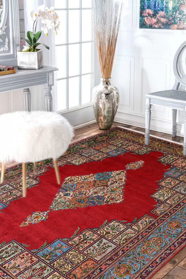 Hamadan Lal Diamond Persian Wool Carpet