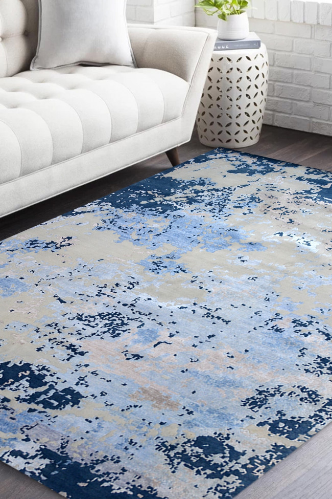 Cloudy Sky Handknotted Modern Carpet