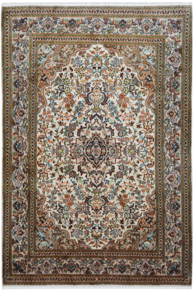 Persian Motif Silk Traditional Area Rug