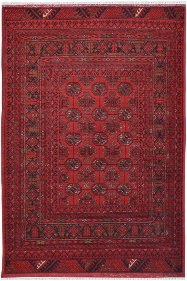 Three Layer Bokhara handmade Afghan Carpet