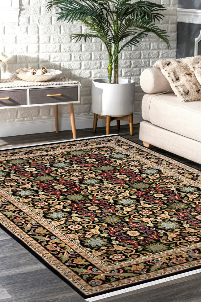 Multi Flowers Handknotted Wool Area Rug