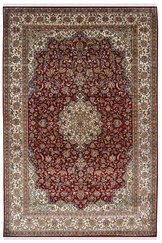 Bunch of Flowers Kashan Silk Rug