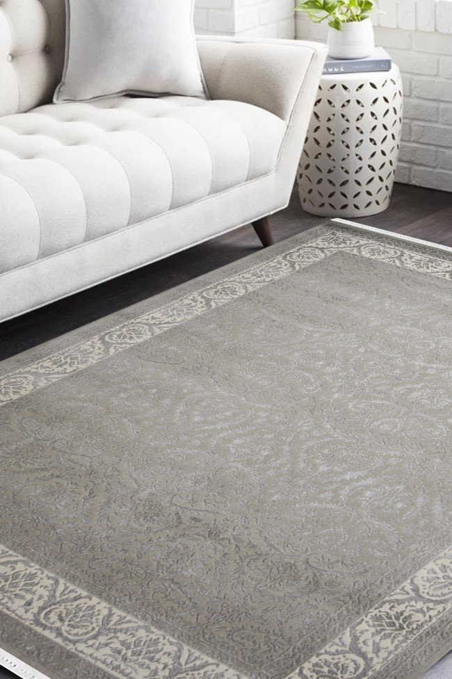 Jewel Grey Handknotted Wool Carpet