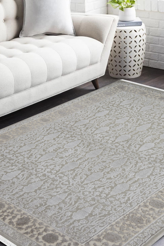 Soothing Grey Handmade Area Rug