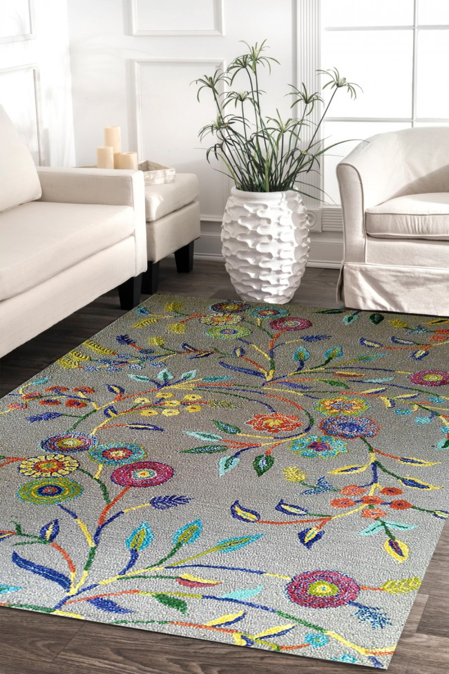 Vibgyor Modern Hand-tufted Area Carpet
