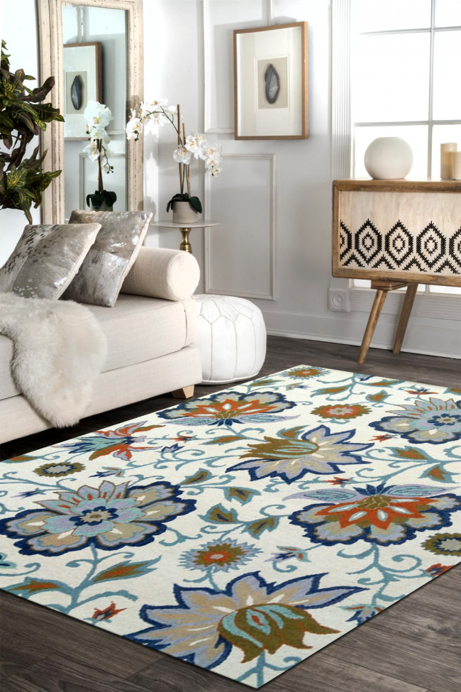 Flora and Faune Wool Handtufted Area Rug