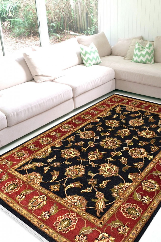 Floral King Handknotted Wool Area Rug