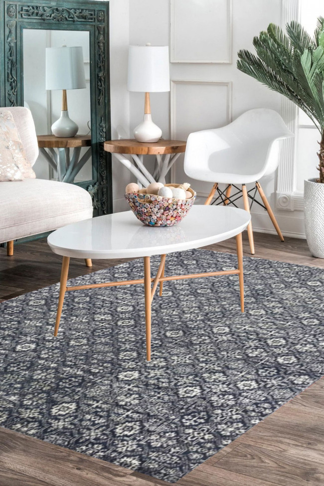 Modern Handknotted Large Area Rug