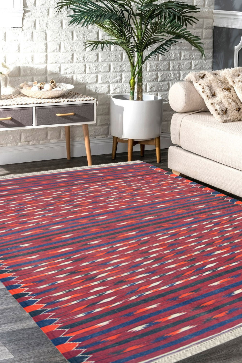 Geo Needle Work Kilim Carpet For Sale At Best Price