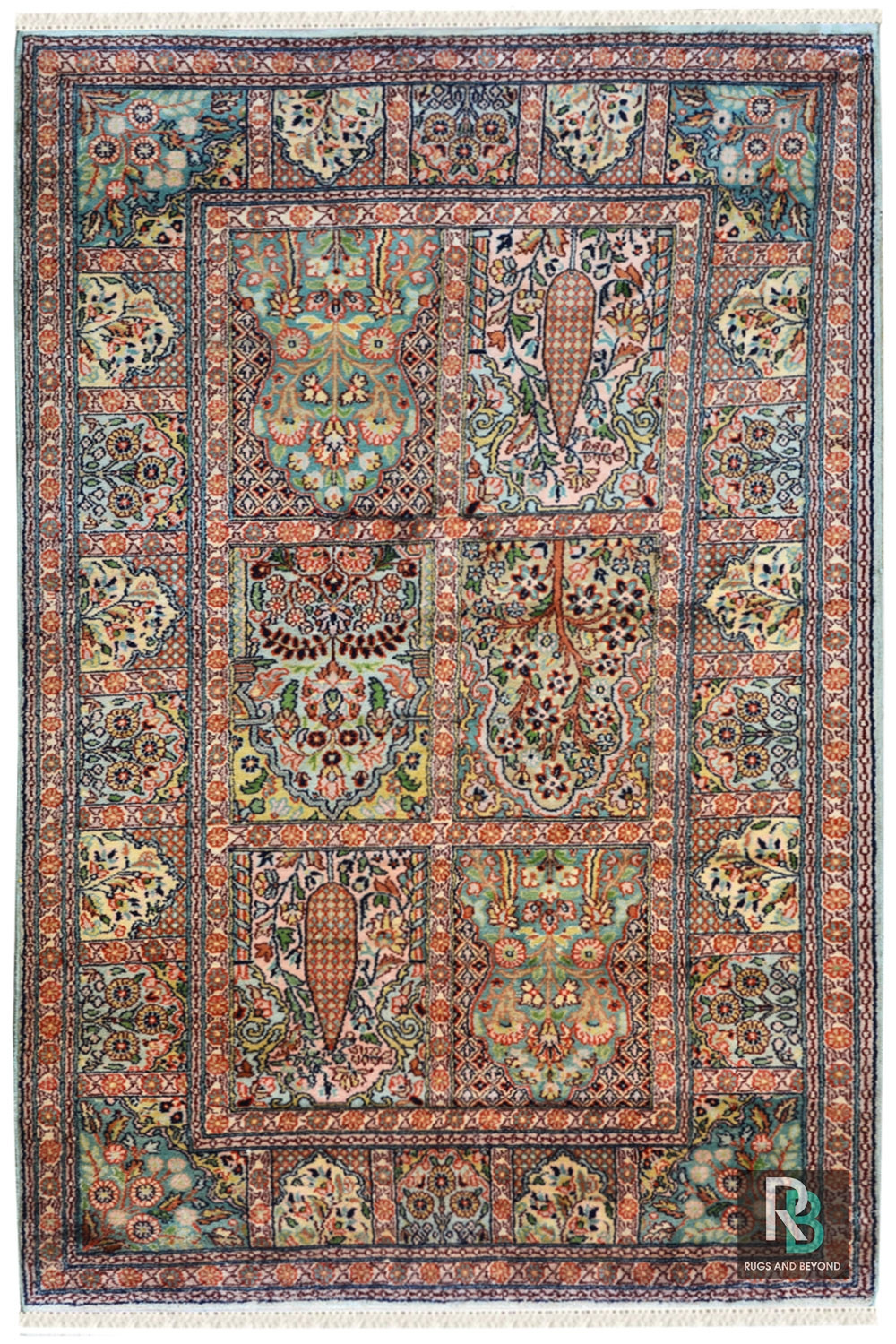 Get Jewel Boxes Hamadan Silk On Cotton Handmade Rug At