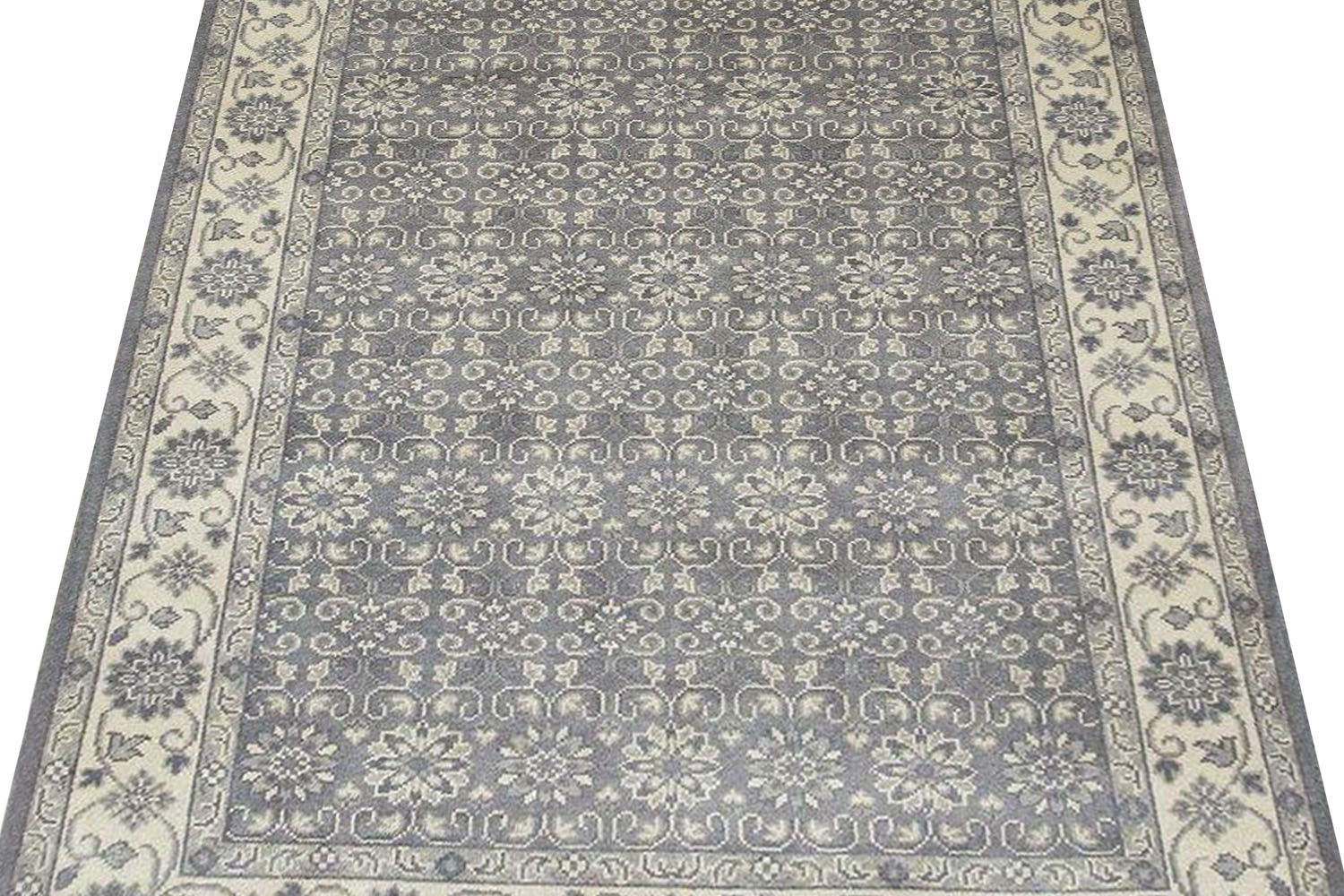 Buy Gray Anatomy Handknotted Wool Area Rug In Monochrome