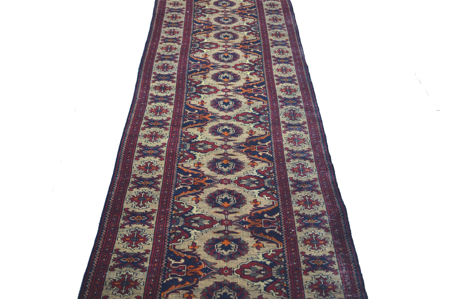 Lotus Kali Handknotted Afghan Runner At Best Price Range