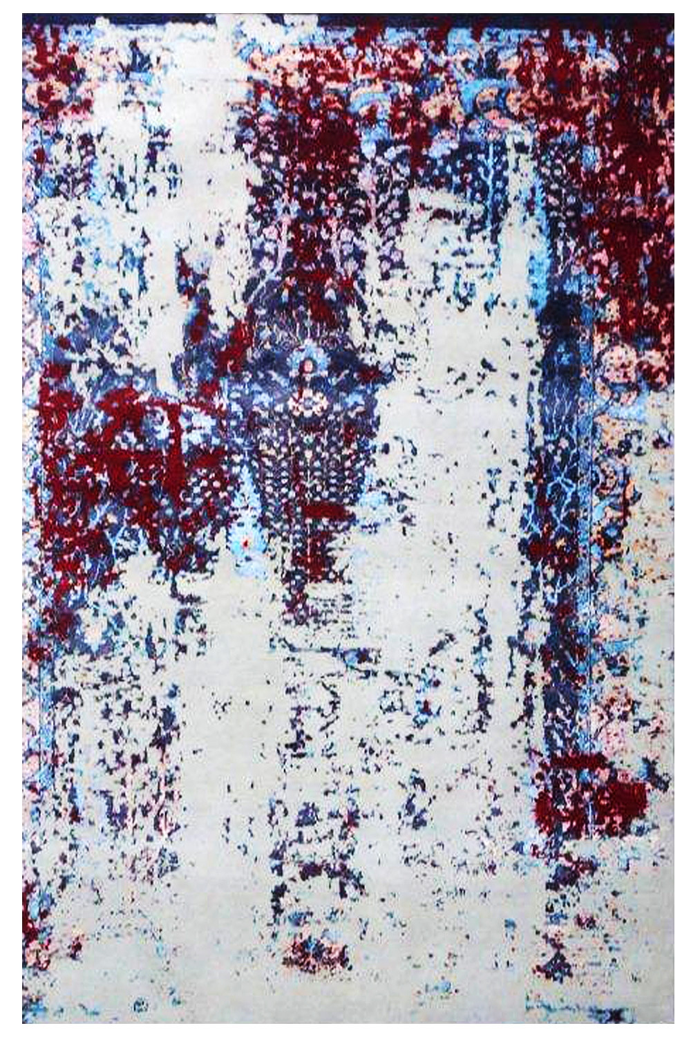 Shop One Of A Kind Erased Vision Handknotted Modern Area Rug