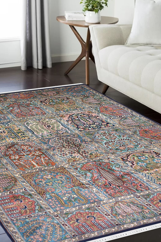 Antique Carpet Zari Kashmir Silk Rugs Rugs And Beyond