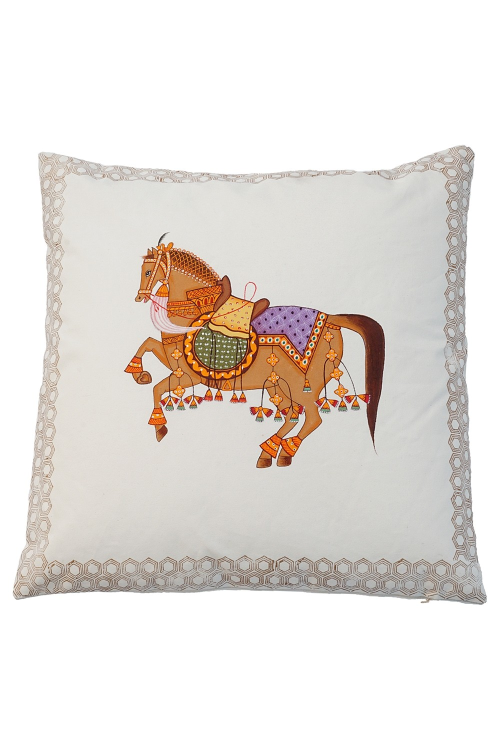 Beautiful Warrior Cotton Hand Printed Pillow Rugs And Beyond