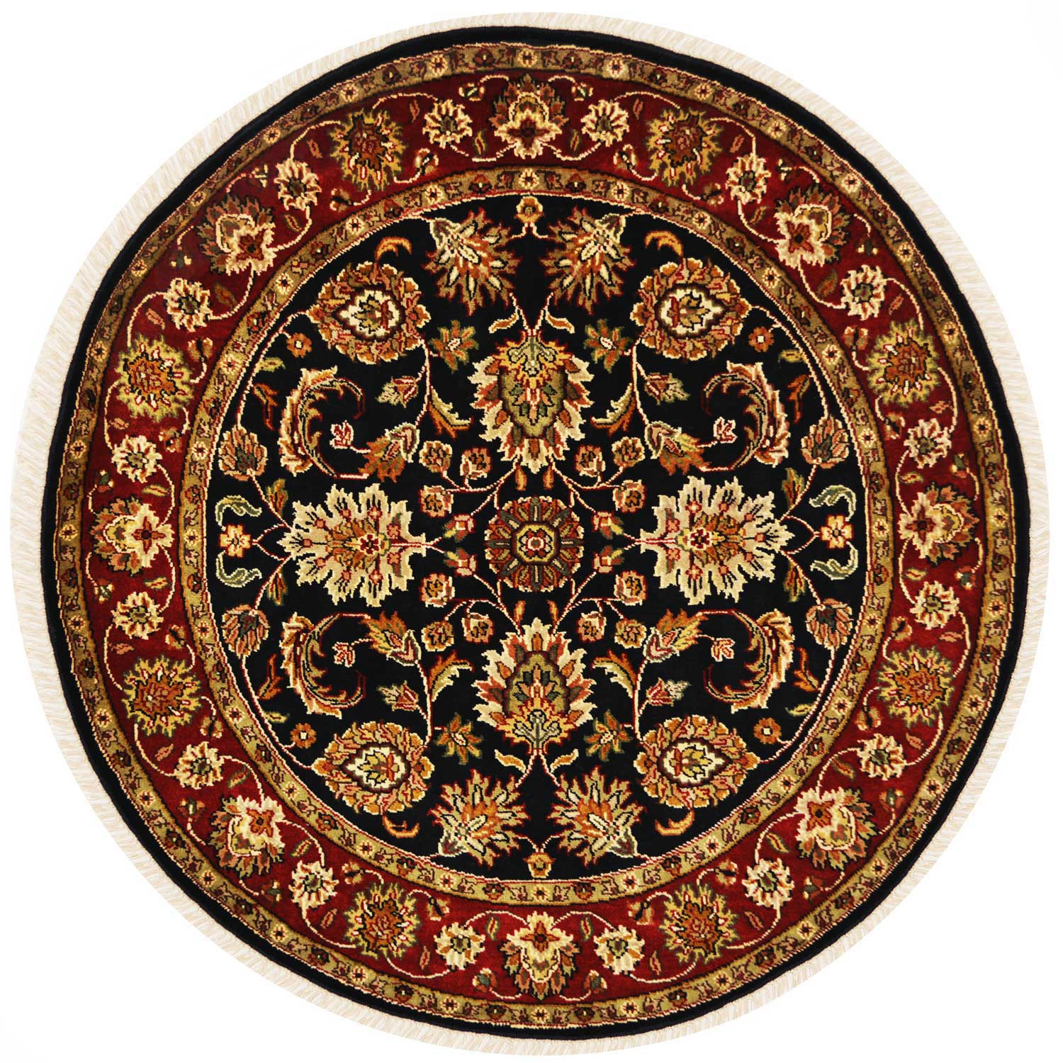 Get Round Wool Rugs Online And Shop Mughal Motif Rug At