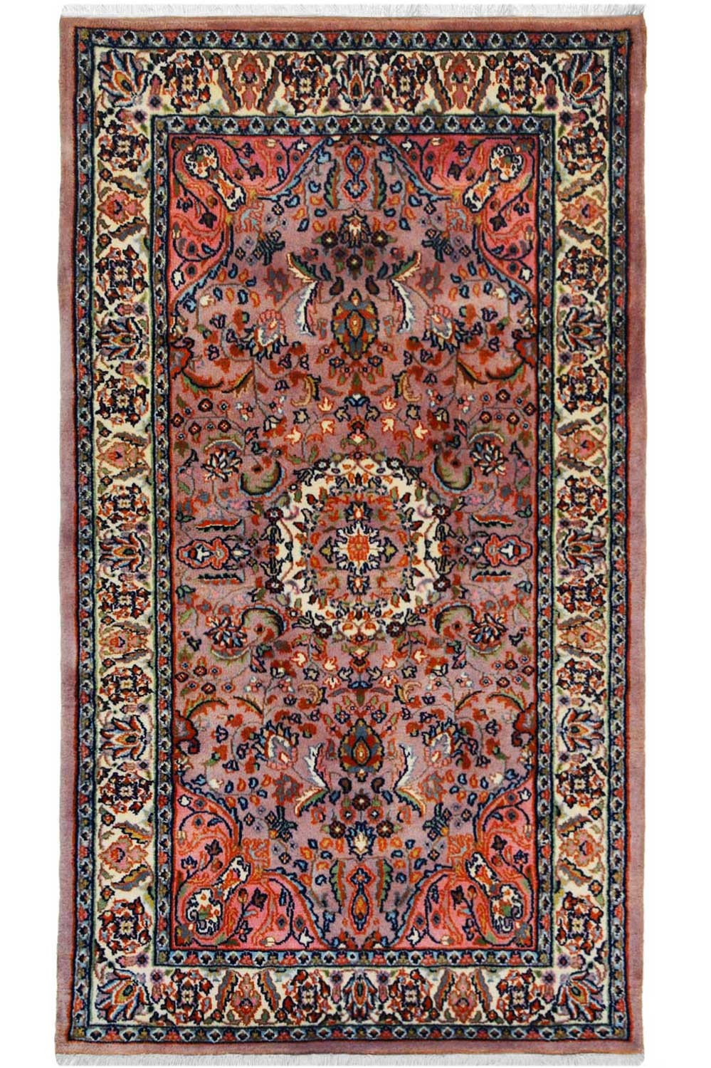 Buy One Of A Kind Salmon Chakra Kashan Wool Rug Online At