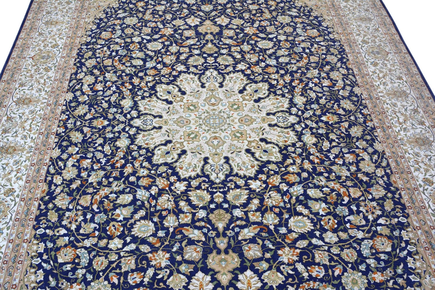 Golden Chakra Pure Silk Rug Online At Best Price From Rugs