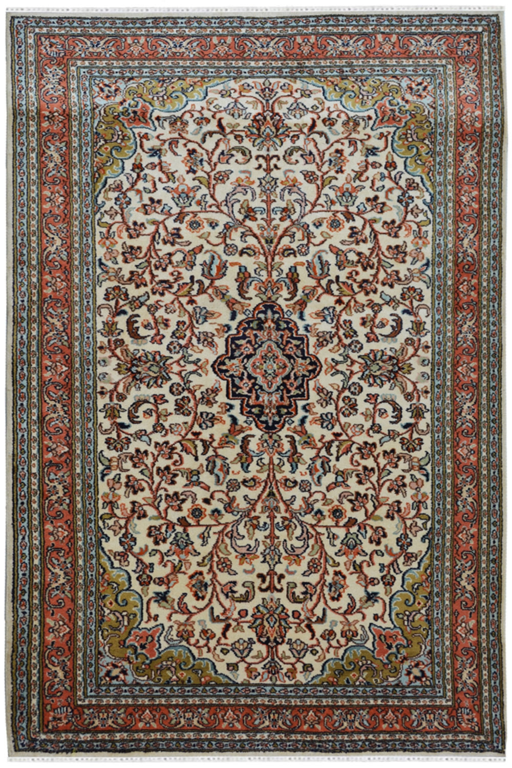 Floral Kashan Silk Handknotted Carpet Silk Rugs And