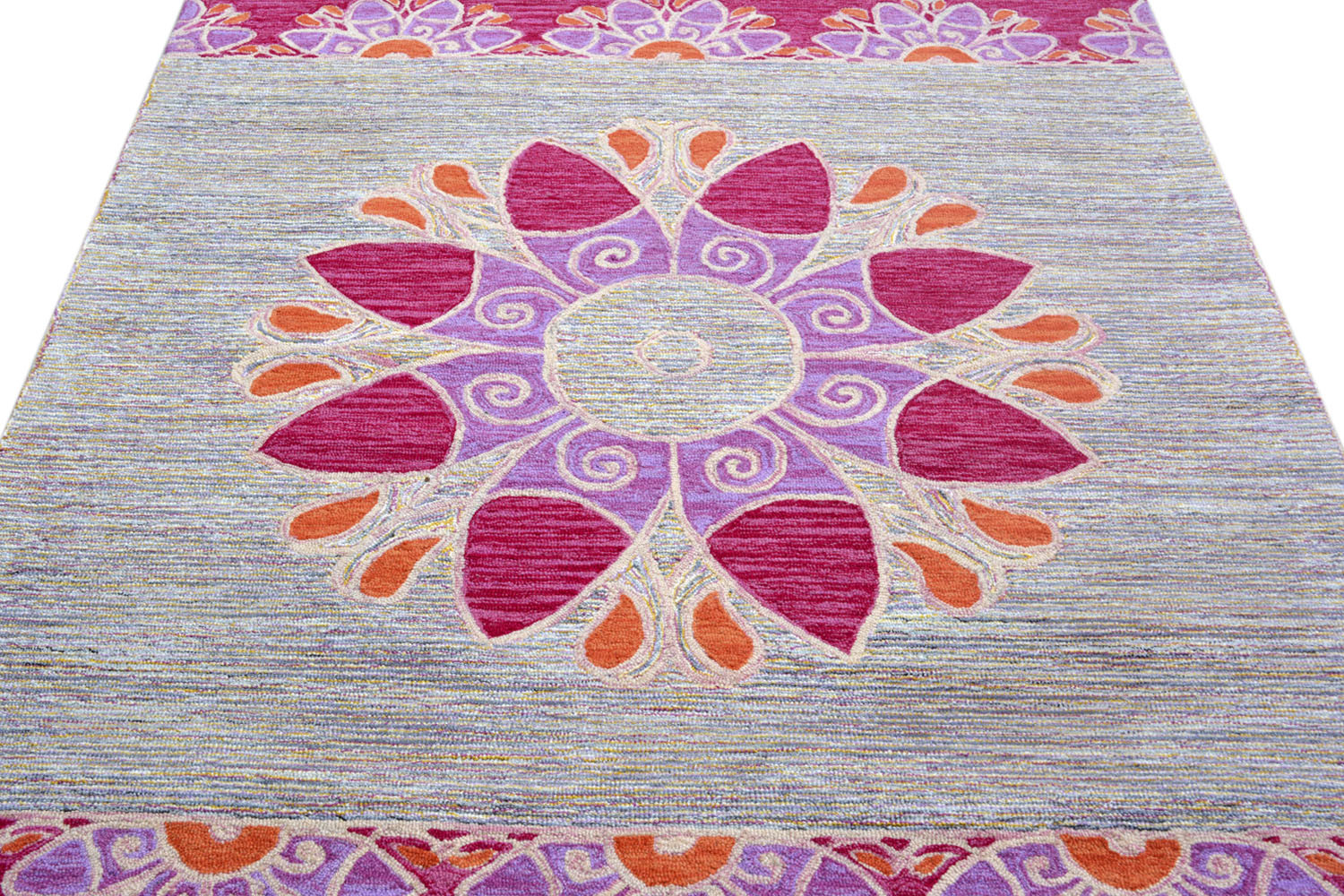 Shop 5 0 X 7 11 Ft Summer Rangoli Exclusive Modern Rug