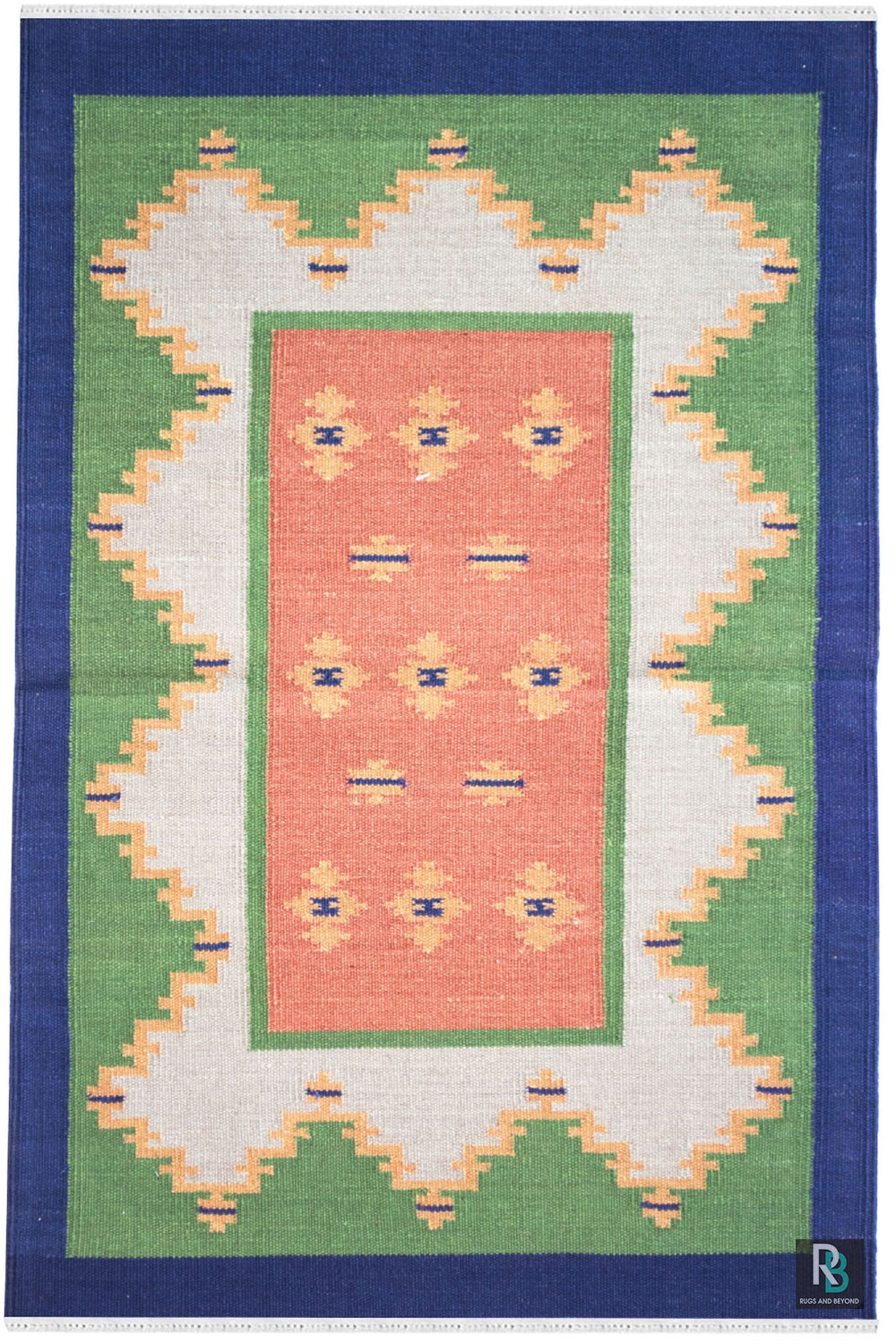 2 X3 Ft Ft Rainbow Rust Cotton Durry Rugs And Beyond