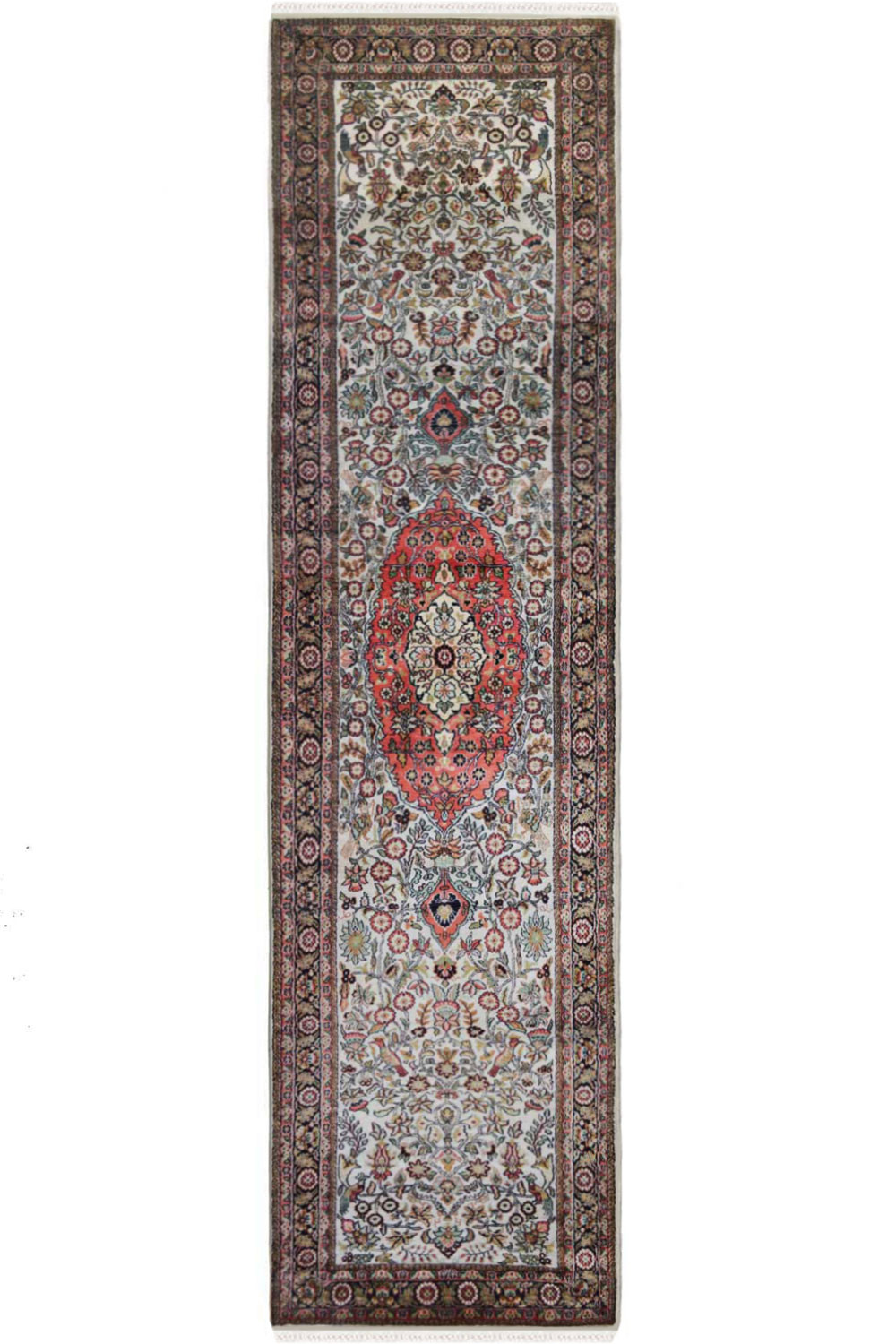 Dew Drop Medallion Runner Silk Runner Rugs Online