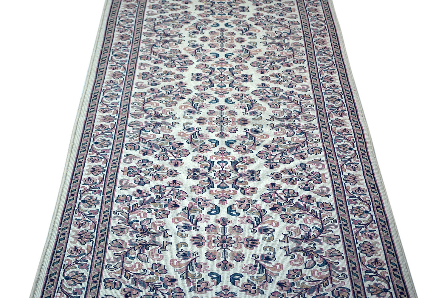 Flower Patti Wool Runner And Traditional Pattern