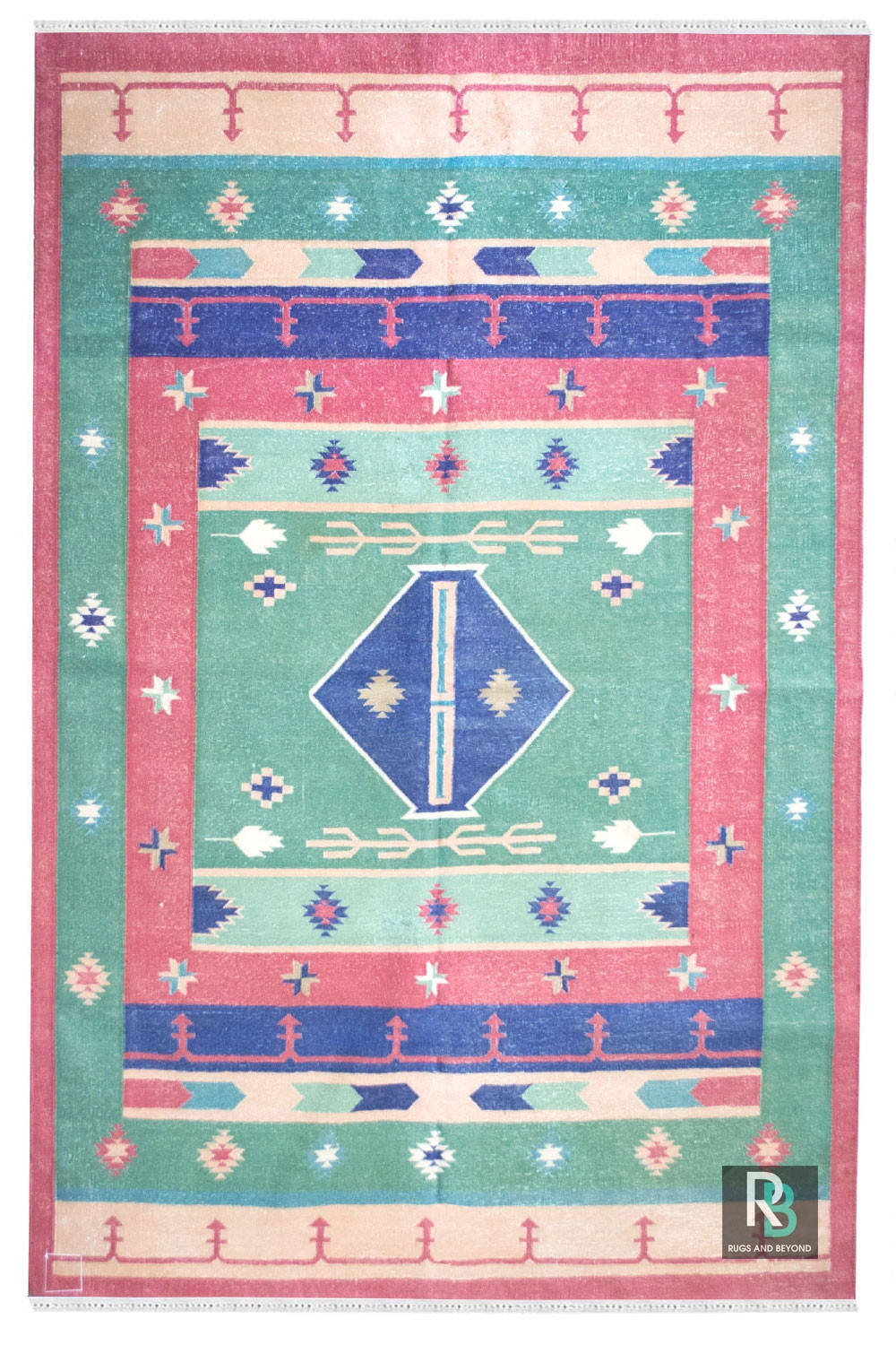 Eye Catching Turkish Traditional Cotton Dhurrie Rugs And