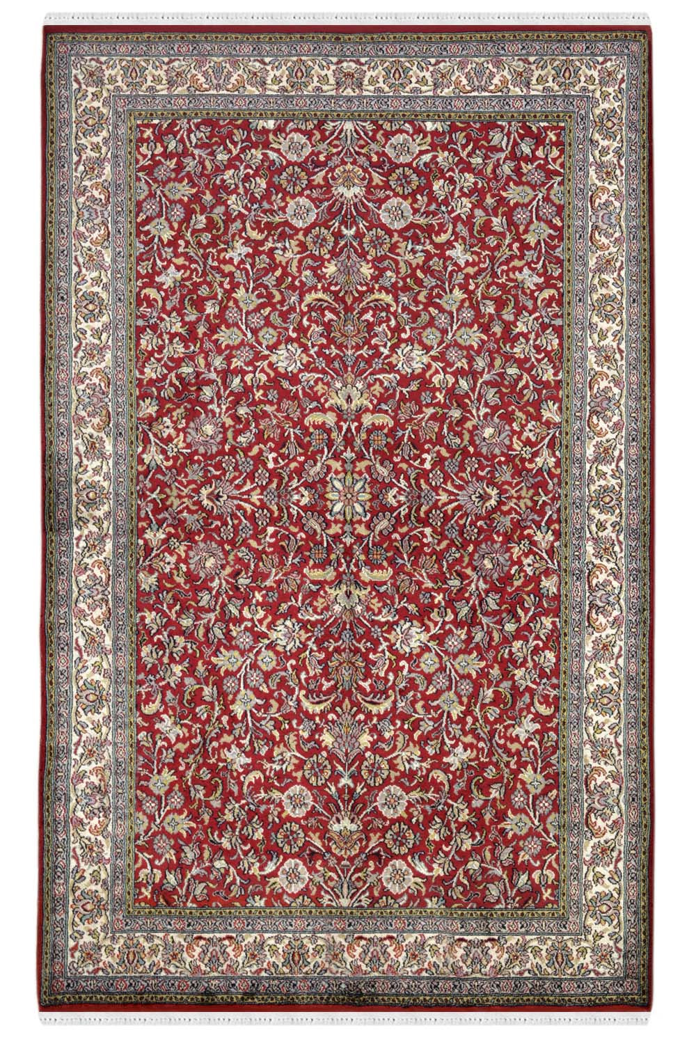 Shop All Over Bagh Floral Buy Handmade Kashmir Silk Rugs
