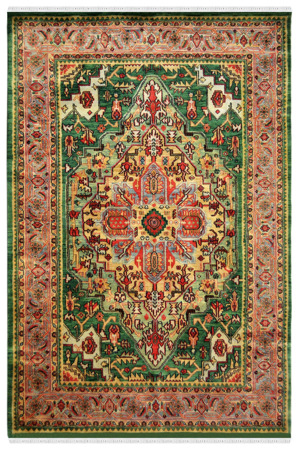 Mughal Kashan Handmade Wool Rugs With Pure Material