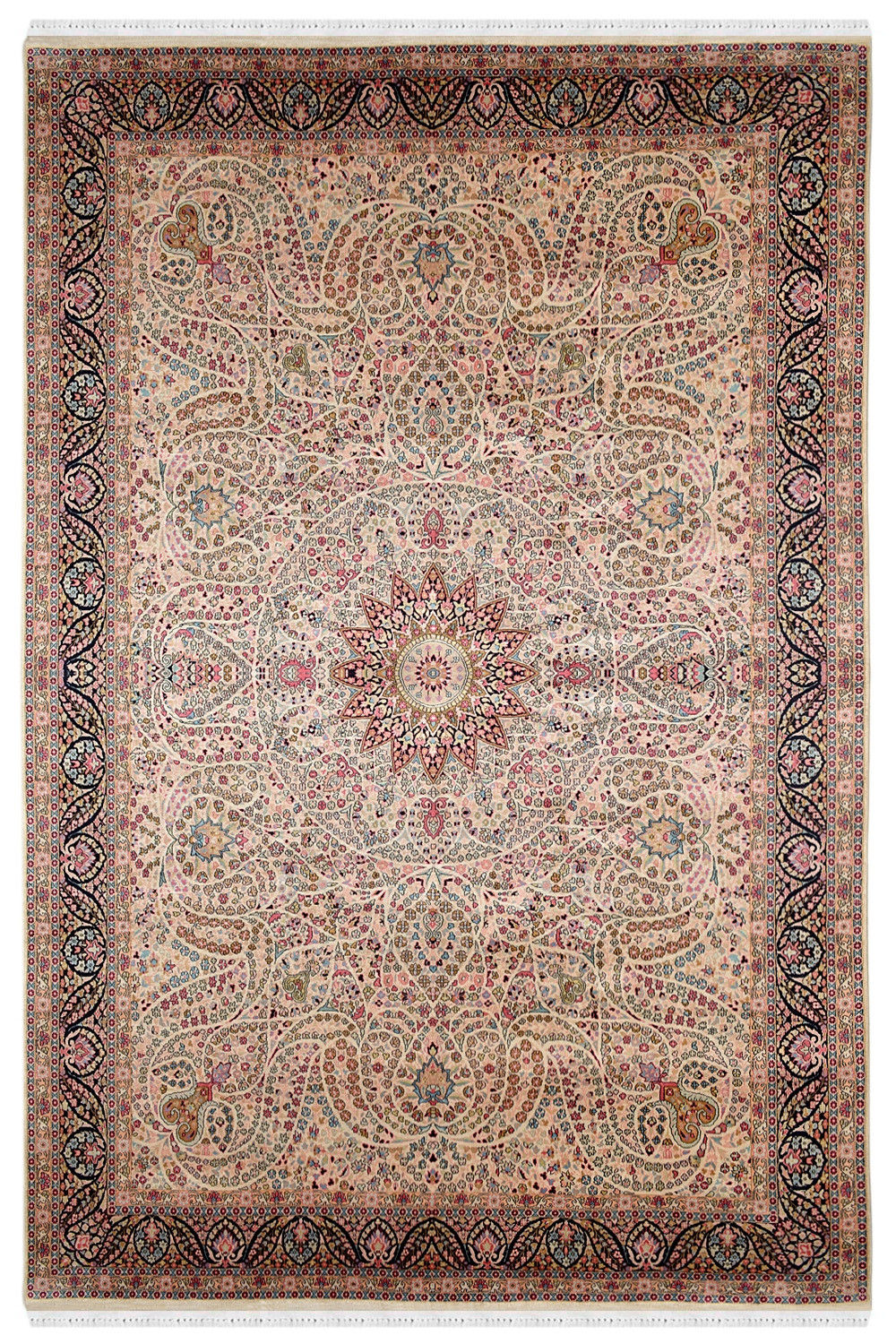 Carpets For Living Room Kashmir Silk Pink Indian