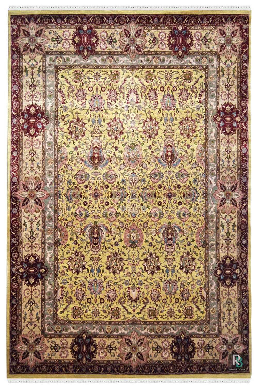 Lotus Mughal Wool Area Rug From Rugs