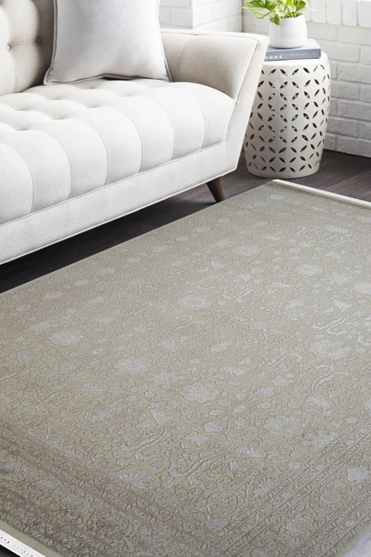 Buy Beautiful Floral Tikka Best Handknotted Wool Area Rug