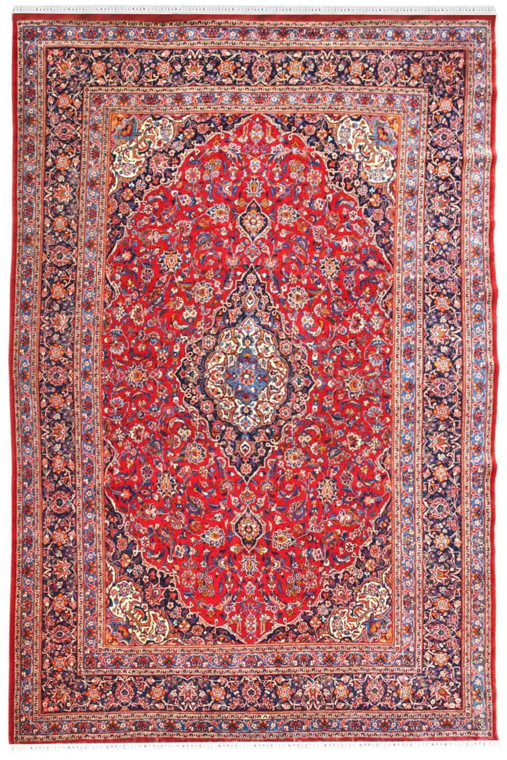 Purchase Pure Laal Kashmiri Wool Handknotted Carpet